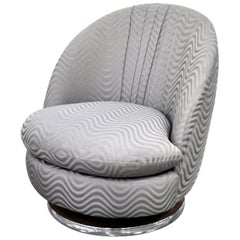 Milo Baughman for Thayer Coggin Gray Swivel Lounge Chair