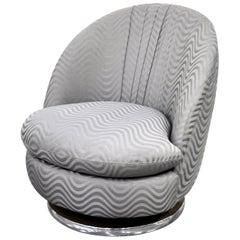 Milo Baughman for Thayer Coggin Gray Swivel Lounge Chair