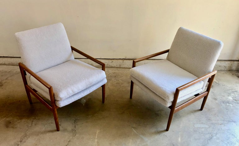 20th Century Milo Baughman for Thayer Coggin Lounge Chairs For Sale