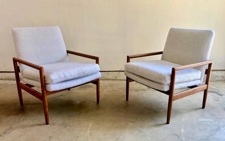 Polyester Milo Baughman for Thayer Coggin Lounge Chairs For Sale