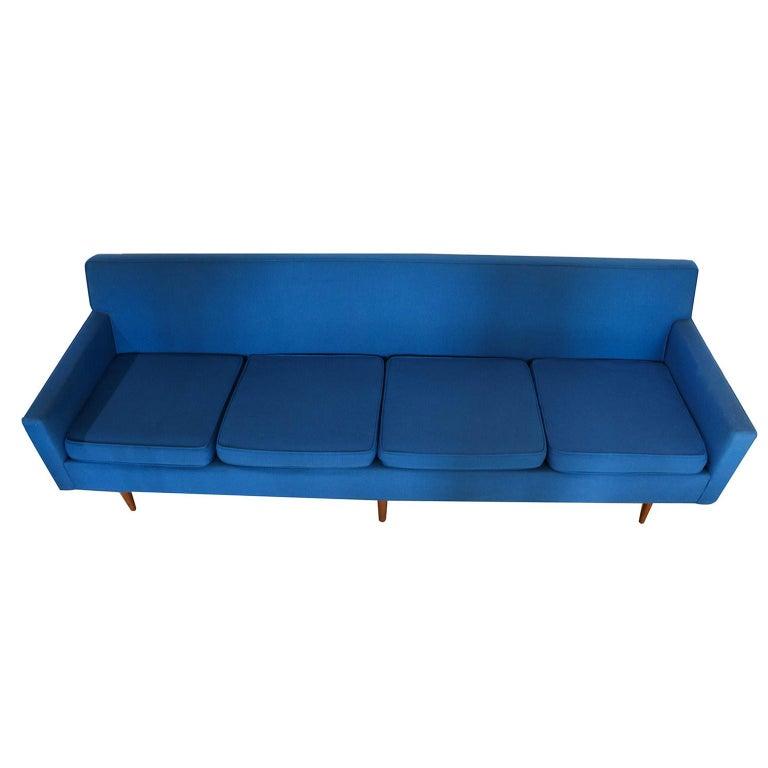 Fabric Milo Baughman for Thayer Coggin Mid-Century Modern Sofa For Sale