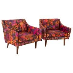 Milo Baughman for Thayer Coggin Midcentury Lounge Chairs, Pair