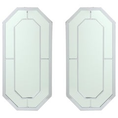 Milo Baughman for Thayer Coggin Octagonal Chrome Mirrors