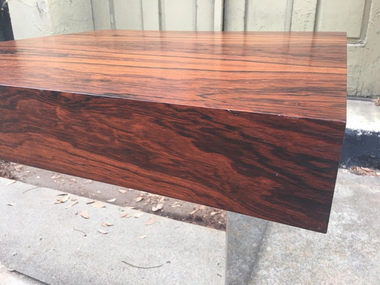 Milo Baughman for Thayer Coggin Rosewood Table For Sale 3