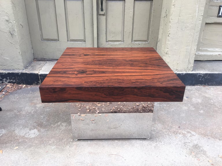 Milo Baughman for Thayer Coggin Rosewood Table For Sale 4