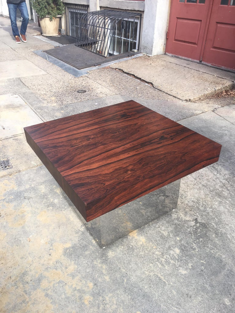 Mid-Century Modern Milo Baughman for Thayer Coggin Rosewood Table For Sale