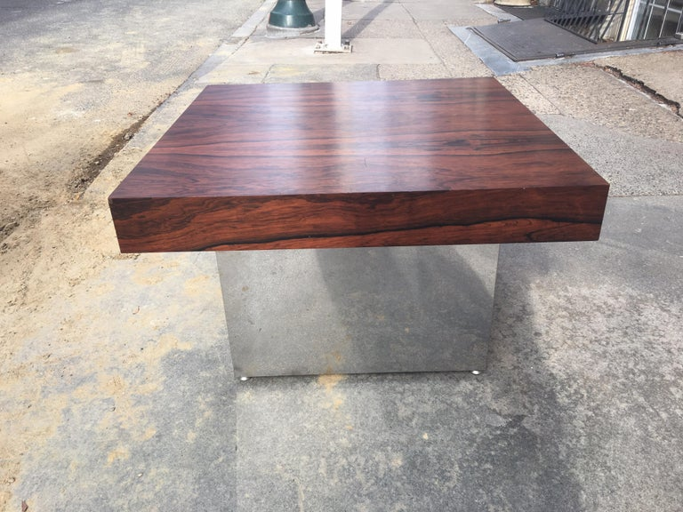 American Milo Baughman for Thayer Coggin Rosewood Table For Sale