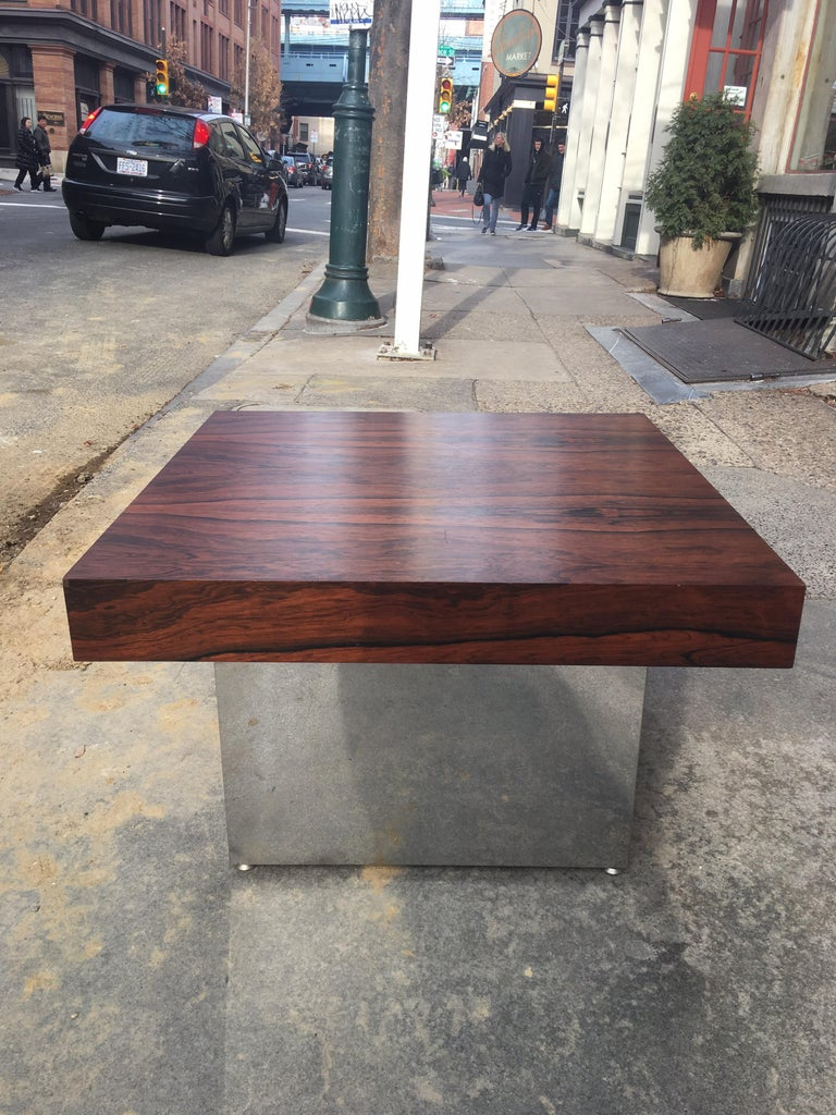 Milo Baughman for Thayer Coggin Rosewood Table In Good Condition For Sale In Philadelphia, PA