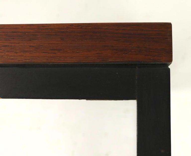 Ebonized Milo Baughman for Thayer Coggin Rosewood Table For Sale