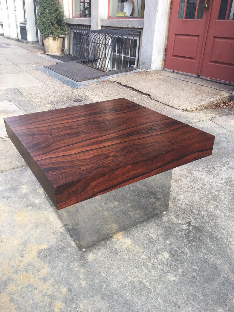Late 20th Century Milo Baughman for Thayer Coggin Rosewood Table For Sale