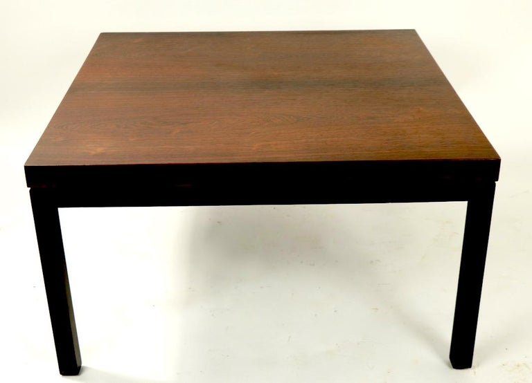 Milo Baughman for Thayer Coggin Rosewood Table In Good Condition For Sale In New York, NY