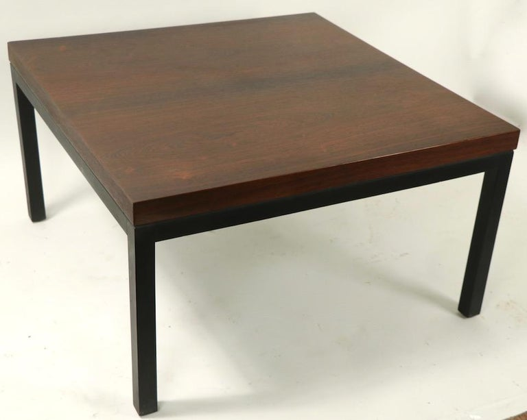 Wood Milo Baughman for Thayer Coggin Rosewood Table For Sale