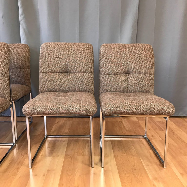 American Milo Baughman for Thayer Coggin Set of Six Dining Chairs For Sale