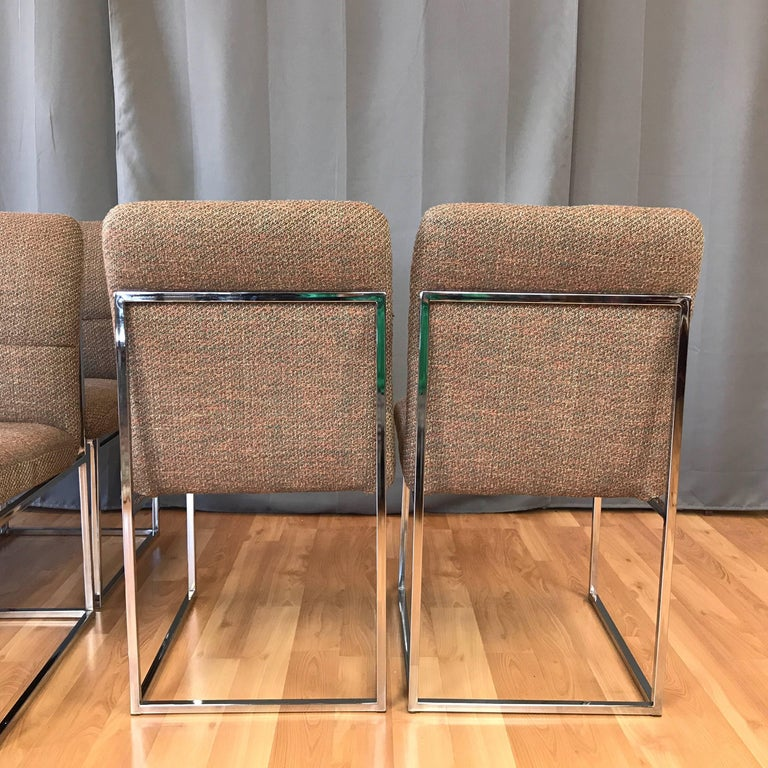 Milo Baughman for Thayer Coggin Set of Six Dining Chairs In Good Condition For Sale In San Francisco, CA