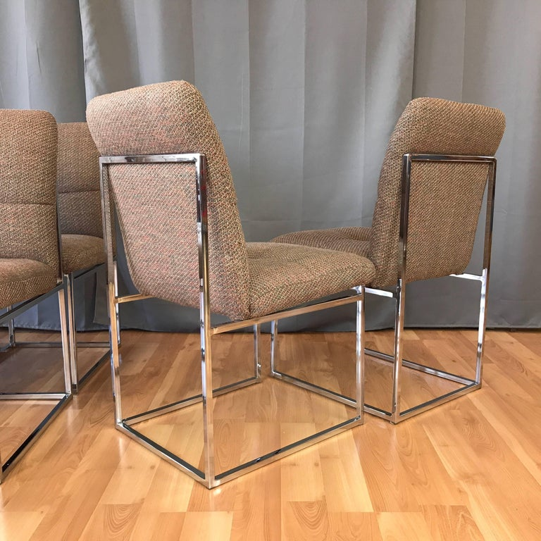 Upholstery Milo Baughman for Thayer Coggin Set of Six Dining Chairs For Sale