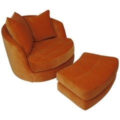 Milo Baughman for Thayer Coggin Swivel Tub Chair Available in COM