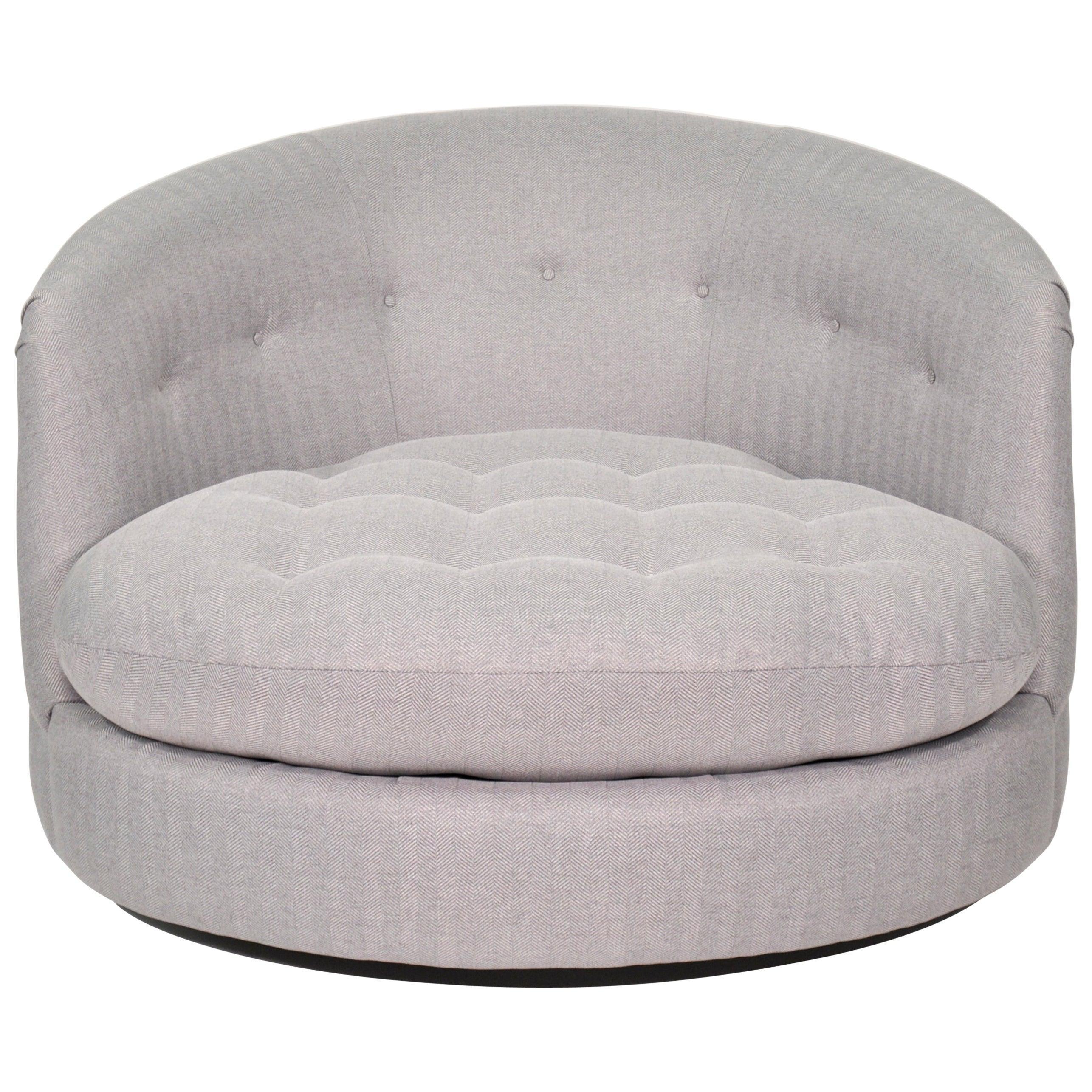 Milo Baughman for Thayer Coggin Swivel Tub Chair