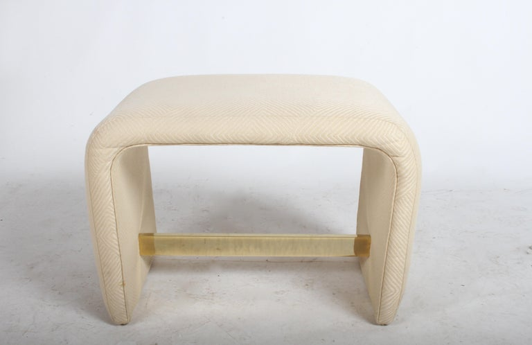 Milo Baughman for Thayer Coggin Waterfall Ottoman or Bench For Sale 9