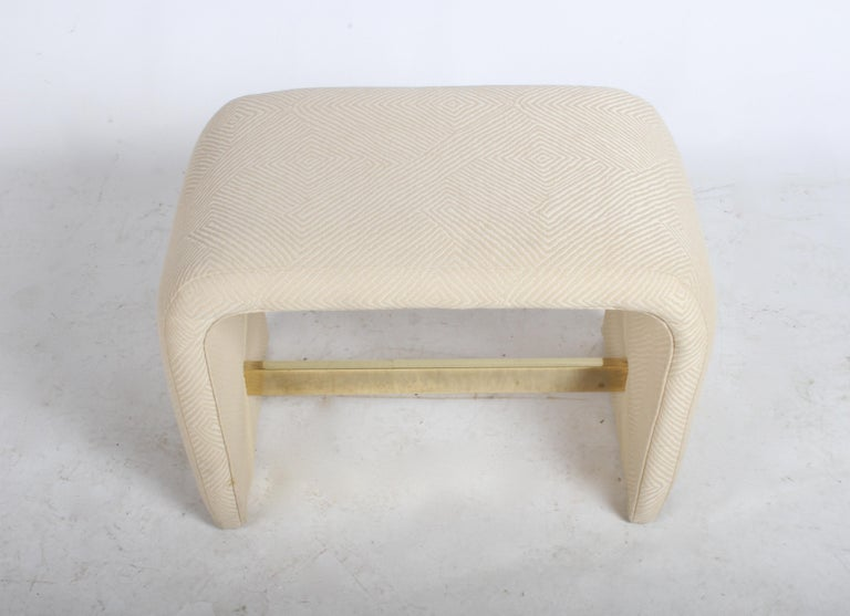 American Milo Baughman for Thayer Coggin Waterfall Ottoman or Bench For Sale