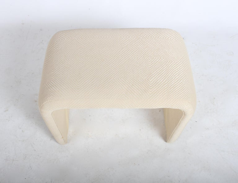 Late 20th Century Milo Baughman for Thayer Coggin Waterfall Ottoman or Bench For Sale