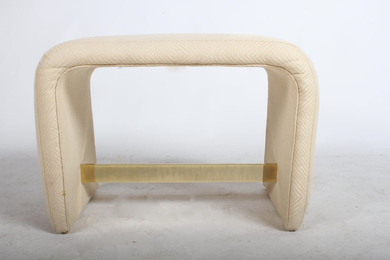 Brass Milo Baughman for Thayer Coggin Waterfall Ottoman or Bench For Sale
