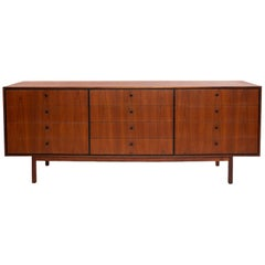 Milo Baughman 1960s Glenn of California Walnut 12 Drawer Dresser