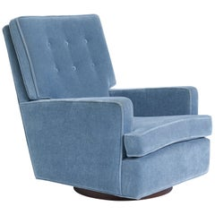 Milo Baughman High Back Swivel Chair, 1970