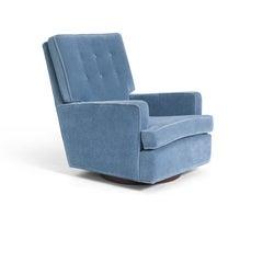 Milo Baughman High Back Swivel Chair, 1970