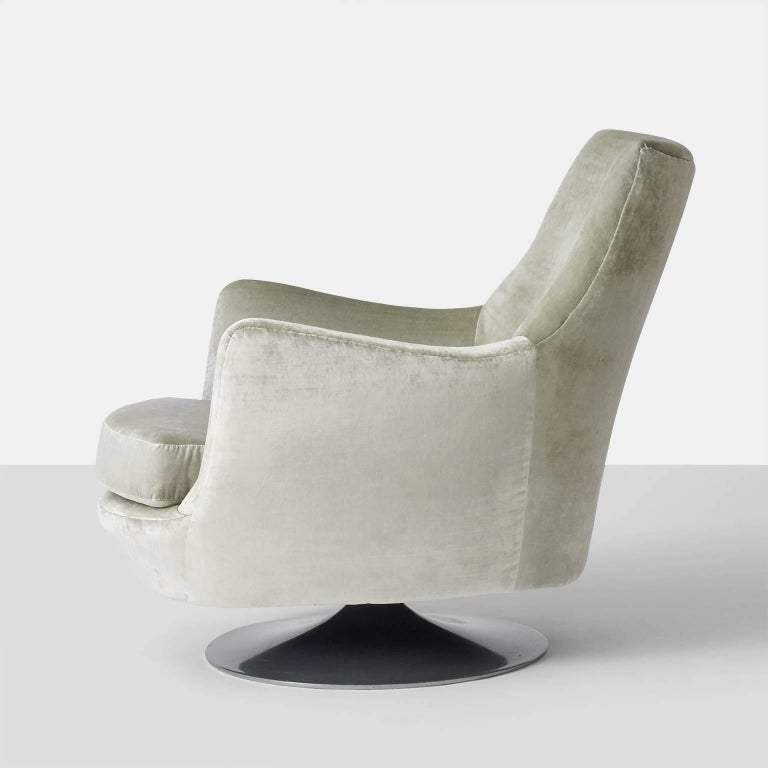 Milo Baughman His and Hers Swivel Lounge Chairs For Sale 2