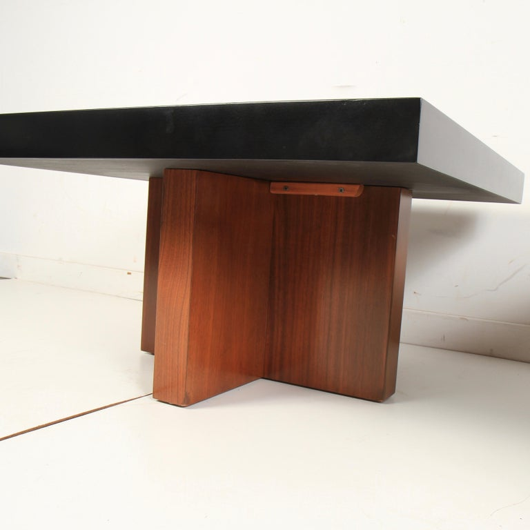 American Milo Baughman Lacquered Walnut End Tables by Thayer Coggin For Sale