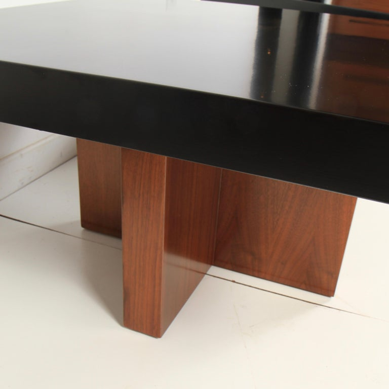 Mid-20th Century Milo Baughman Lacquered Walnut End Tables by Thayer Coggin For Sale