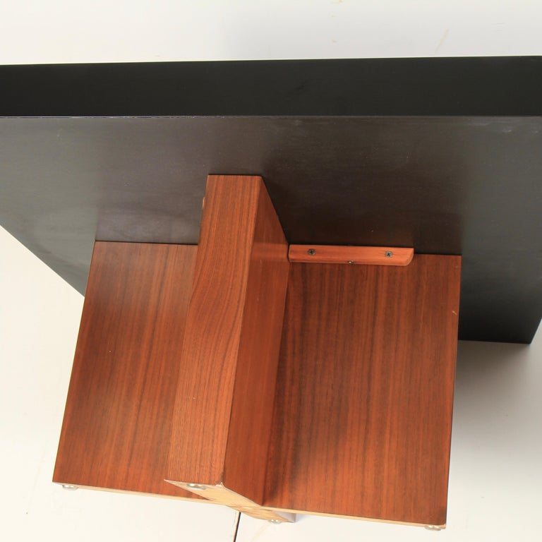 Milo Baughman Lacquered Walnut End Tables by Thayer Coggin For Sale 3