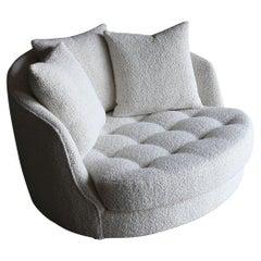 Milo Baughman Large Swivel Lounge Chair for Thayer Coggin, 1972