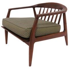 Milo Baughman Lounge Chair in Walnut, circa 1950s