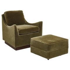 Milo Baughman Lounge Chair with Ottoman, 1960's