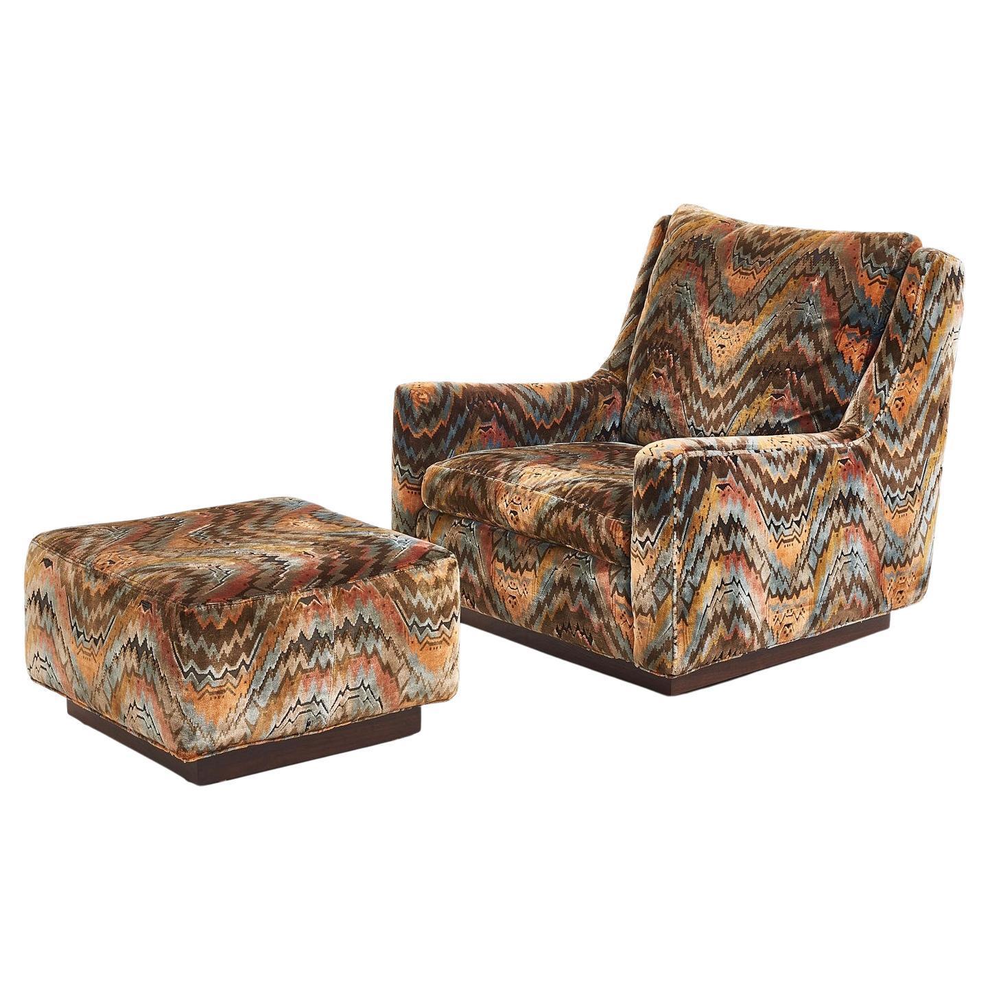 Milo Baughman Lounge Chair with Ottoman, 1970