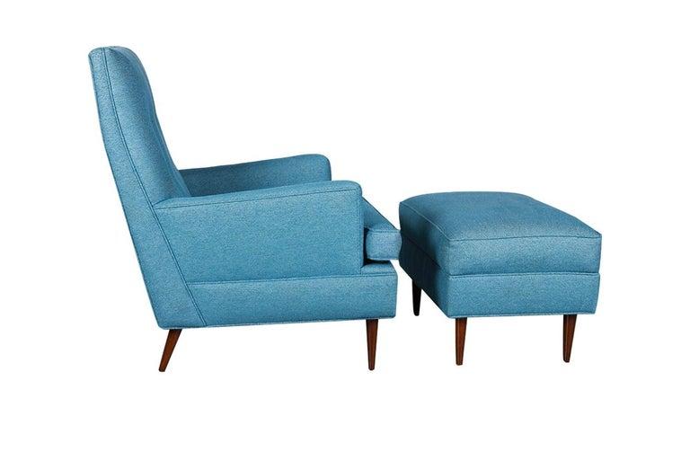 Mid-Century Modern Milo Baughman Mid Century Lounge Chair Ottoman