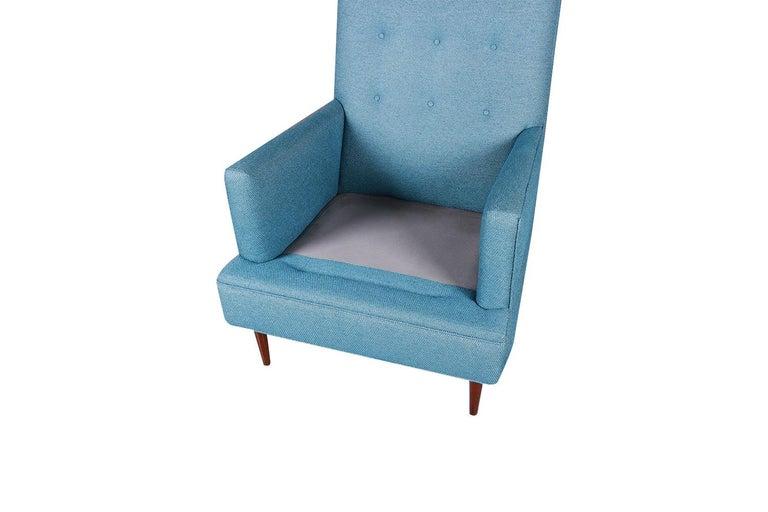 Fabric Milo Baughman Mid Century Lounge Chair Ottoman