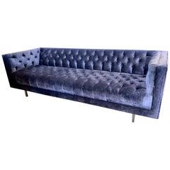 Milo Baughman Mid-Century Modern Chesterfield Tufted Sofa