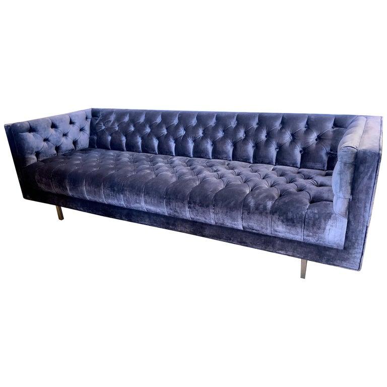 Awesome Milo Baughman Mid Century Modern Chesterfield Tufted Sofa Creativecarmelina Interior Chair Design Creativecarmelinacom
