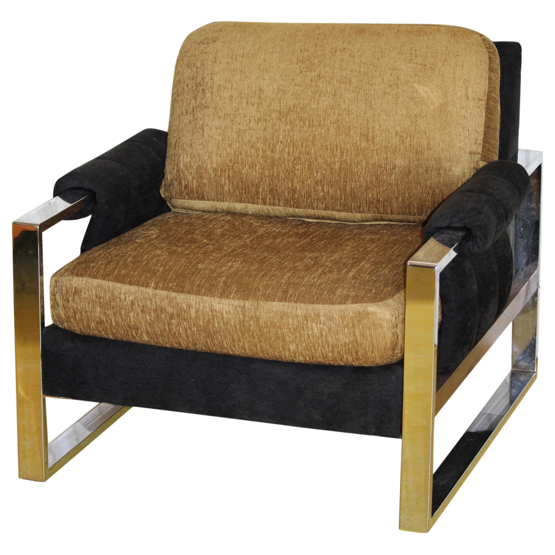 Milo Baughman Mirrored Chrome Lounge Chair
