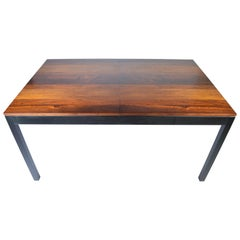 Milo Baughman Mixed Wood Dining Table for Directional
