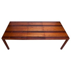 Danish Mixed Wood Expandable Dining Table Attributed to Dyrlund