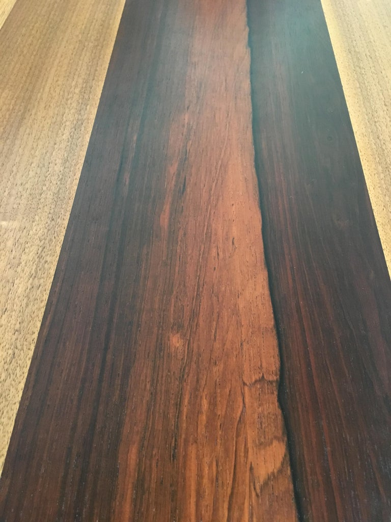 Milo Baughman Mixed Woods Dining Table for Directional For Sale 6