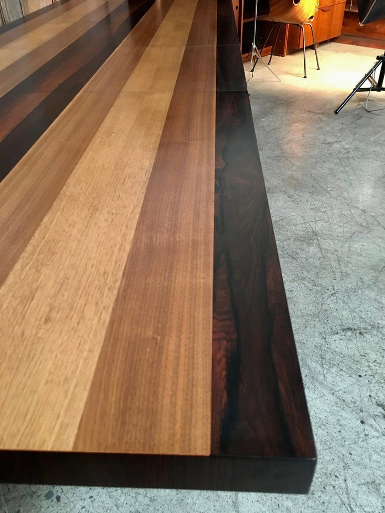 Milo Baughman Mixed Woods Dining Table for Directional For Sale 7