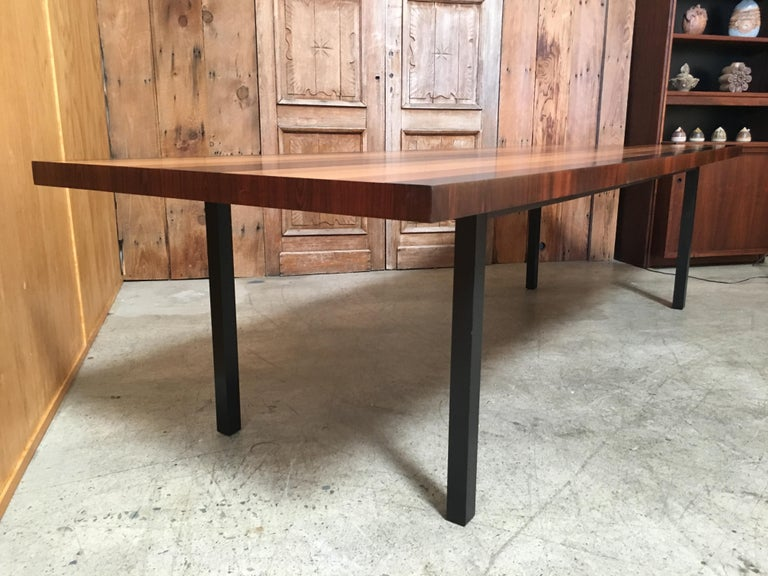 Rosewood Milo Baughman Mixed Woods Dining Table for Directional For Sale