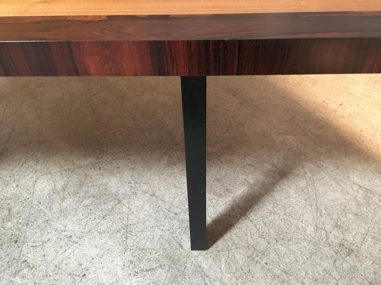 Milo Baughman Mixed Woods Dining Table for Directional For Sale 1