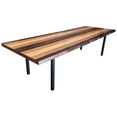 Milo Baughman Mixed Woods Dining Table for Directional