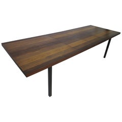 Milo Baughman Plank Wood Dining Table for Directional