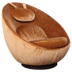 Milo Baughman Rocking Swivel Egg Chair